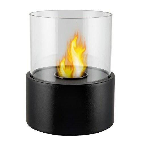 ガレージ・ゼロ バイオエタノール暖炉 円形 ブラック(屋内・屋外両用)/卓上暖炉/ファイアープレイス/卓上エタノール暖炉