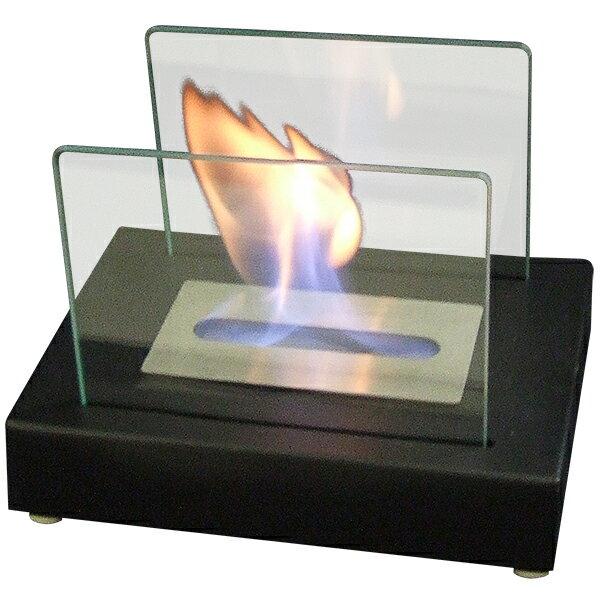 ガレージ・ゼロ バイオエタノール暖炉 長方形 ブラック/スモール(屋内・屋外両用)/卓上暖炉/ファイアープレイス/卓上エタノール暖炉
