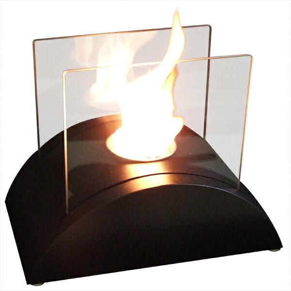 ガレージ・ゼロ バイオエタノール暖炉 山型 ブラック/黒(屋内・屋外両用)/卓上暖炉/ファイアープレイス/卓上エタノール暖炉