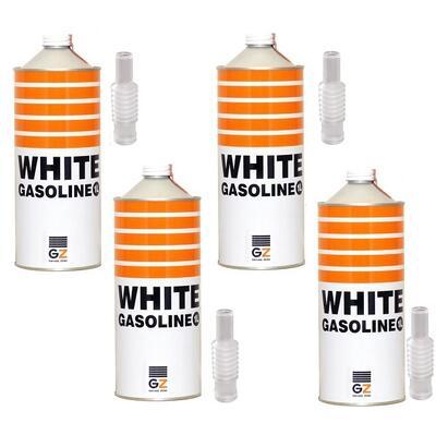 (送料無料)ガレージ・ゼロ ホワイトガソリン 1L×4缶/バーベキュー/アウトドア/携帯用ストーブ/ガスランタンの燃料に最適