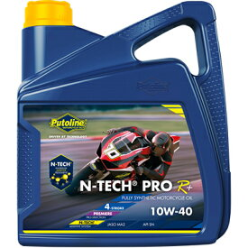 Putoline バイク用 4サイクルエンジンオイル 4L [N-TECH PRO R+] 10W-40 SN(MA2) 100%化学合成油
