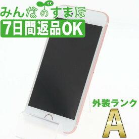 【中古】 iPhone6S 64GB ローズゴールド 【SIMフリー】 本体 Aランク スマホ iPhone 6S アイフォン アップル apple 【あす楽】 【保証あり】 【送料無料】 ip6smtm293