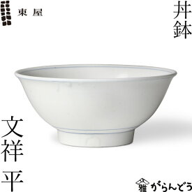 東屋 丼鉢 文祥 平 どんぶり 伊万里焼 有田焼 陶磁器 日本製
