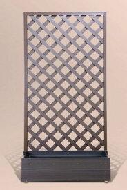 <樹脂 プランター ラティス 置くだけ>プランターボックス付きウッディープラフェンス 高さ180cm×幅90cm