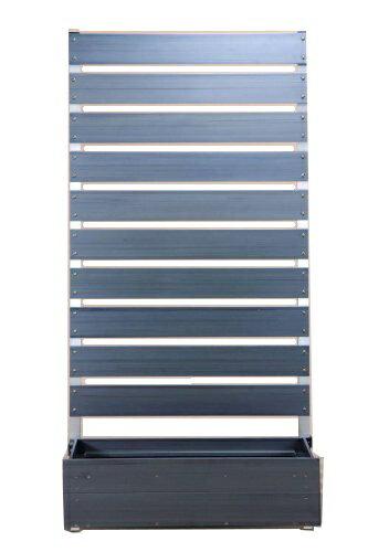 目隠しフェンス 樹脂フェンス 【プランターボックス付きコンフォートフェンス/高さ180cm幅90cm板間隔3cm】庭 樹脂 目隠し プランター フェンス 置くだけ