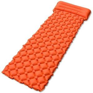 エア-マット キャンピングマット テントマット エアーベッド 超軽量型 耐水加工 アウトドア 寝袋 キャンプ キャンプマット 枕が付き 防災用品 山登り