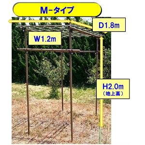 セキスイ フルーツパーゴラ Mサイズ 1.2x1.8x高さ2.4m(地中埋め込み分40cm含む)※メーカー欠品により遅れる場合あり 代引き別途+5,000円追加送料