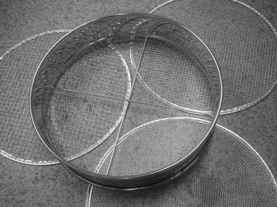 ステンレス替アミ式フルイ30cm(替えアミ3枚入)