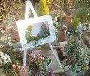 絵画プランター 花はなふれーむ 600型 ホワイト