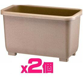 【お得用】eco&ecoウインプランター深55型エコブラウン【2個セット】eco菜園プランター