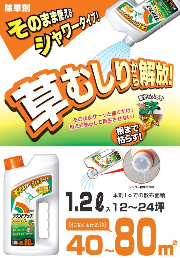 ラウンドアップマックスロードAL【1.2L】 そのまま使えるシャワータイプ (日産化学)