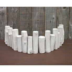 アンクルウッドファイアウッドWHITE【BSFZ3050WH】丸太の柵ホワイトSサイズ