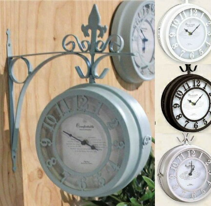 OLD STREET BOTHSIDE CLOCK壁掛け時計L【NHE801L】★カラーBRは、2月上旬以降の発送となります★