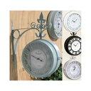 壁掛け両面時計OLD STREET BOTHSIDE CLOCK Lサイズ〜壁掛け時計 両面時計 ボスサイドクロック アンティーク両面時計NH…