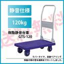 【送料無料】折りたたみ 樹脂静音台車 GTS-120 積載荷重 120kg 小型【組立不要・完成品】