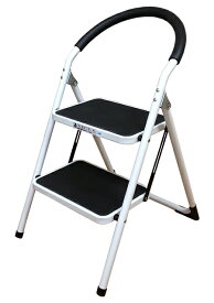 【送料無料】ステップチェアー パッソ 2段(折りたたみ式スチール踏み台・脚立)