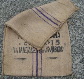 【送料無料】カカオ豆が入っていた麻袋 ドンゴロス 青線ココア豆空き(中古)麻袋 青線 30枚セット