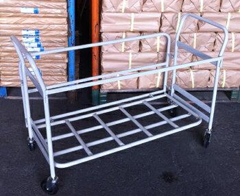 ◆法人様限定お届け◆【送料無料】折りたたみパイプ椅子収納台車 20脚収納