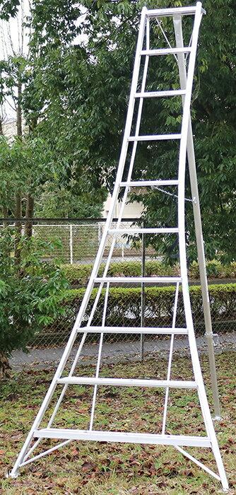 【送料無料!】園芸用アルミ三脚10尺KWX-300 300cm 3.0m【メーカー直送の為代引き発送及び日時指定は出来ません】