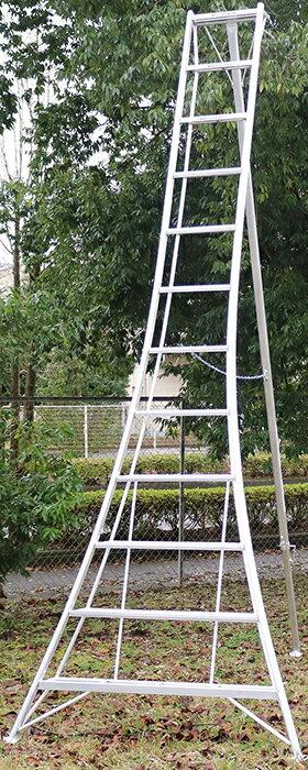 【送料無料!】園芸用アルミ三脚12尺KWX-360 360cm 3.6m【メーカー直送の為代引き発送及び日時指定は出来ません】