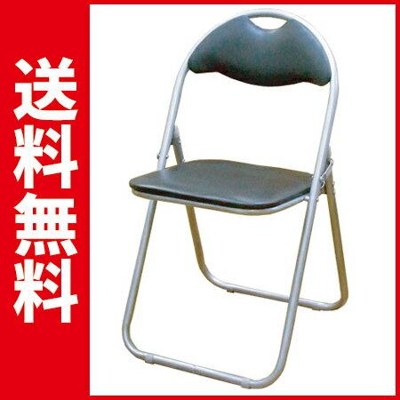 【30脚セット】 折りたたみパイプ椅子【送料無料】 (1脚998円)(ブラック) SC99007