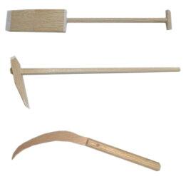 【送料無料】地鎮祭用具 (起工式・上棟式)「鋤・鍬・鎌」 3点セット