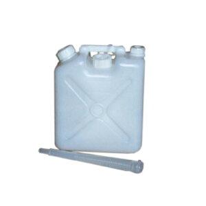 【送料無料!】飲料水専用タンク ノズル付水缶 5L 20個で