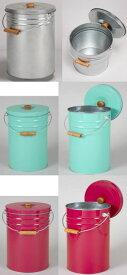 【送料無料】三和金属 トタン丸型米びつ 12kg TMK-12 ライスストッカー 米櫃 日本製で丸洗い可能