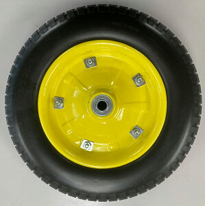 【送料無料】一輪車用ソフトノーパンクタイヤ 13インチ