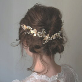 葉と木の実のパール冠 ウエディング ヘッドアクセ和装髪飾りヘッドドレスに【クレールデュリュヌ】