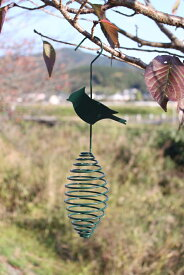 「バードフィーダー」ガーデンオーナメントガーデニング 鳥の餌 野鳥観察 餌やりグッズ バードバス Esschert design Birdspring A