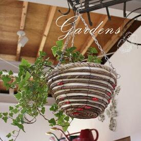 ハンギングバスケット26 NOKI  5寸  ハンギング  バスケット  観葉植物  ガーデニング  ガーデン雑貨  チェーン付き  天然素材  インドアガーデン