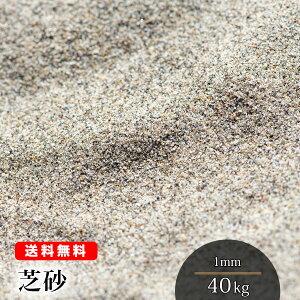 芝砂【送料無料】芝生用 目砂 40kg(20kg袋×2) 1mm 乾燥砂 砂 芝生育成 養生 芝生の砂 芝 透水性 水はけ 充填 補修 ガーデニング 山砂 シルバーグレー 園芸 造園 ゴルフ バンカー 砂あそび さら