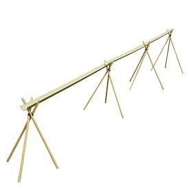 流しそうめんに最適な人工青竹人工竹流しそうめんDX2ロングタイプ三脚付【送料無料/流し素麺/スライダー/キャンプ/バーベキュー/BBQ/流しそうめん機】2メートルの竹が3枚だから6メートル:大勢で楽しめます。