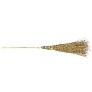 中国製 竹箒5段(竹ほうき、竹ホーキ、たけほうき、たけほーき、タケホウキ、タケホーキ)全長約160センチ