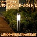 ソーラーライト ソーラーパワーセンサーポールライトL【人感センサー】【タカショー】