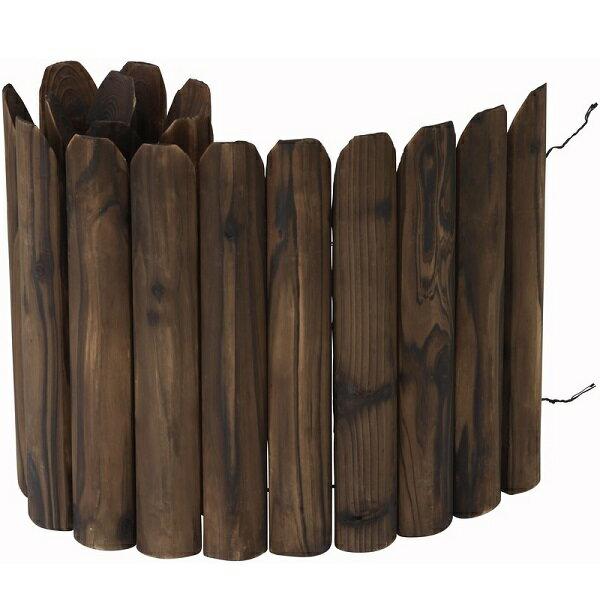 先割花壇フリー焼磨40cm【花壇 仕切り 土留め 囲い 連杭 エッジ 菜園】【タカショー】