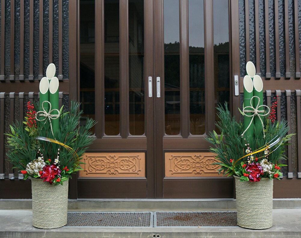 門松120サイズいぐさタイプ×1対(門松×2台)【人工門松】【造花門松】新年を迎える縁起の良い門松をお届けします