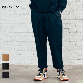 【先行予約】【公式】 MSML VENTILE TWO TUCK WIDE CHINO PANTS M11-02A1-PL01 21AW T$UYO$HI BONEZ ワイドパンツ パンツ チノパンツ チノパン ワークパンツ ツータック カジュアル ファッション ストリート ベンタイル 撥水 セットアップ 秋 冬 メンズ メンズファッション