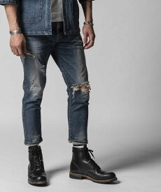 【公式】 クライミー CRIMIE BORN AGAINST STRETCH SELVEDGE GARAGE USED CROPPED JEANS CRA1-BA1N-PT02