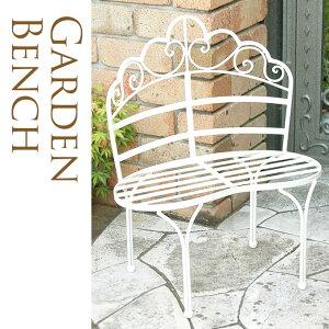 ベンチ型 フラワースタンド ホワイト 花台 ガーデニング雑貨 アンティーク アイアン 雑貨 ガーデン プランターチェア ホワイト 白 ミニ かわいい キュート ベランダ バルコニー