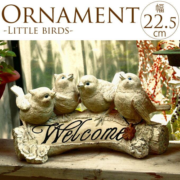 小鳥が楽しくさえずる ウェルカムボード 小鳥 オブジェ ウェルカム アンティーク 雑貨 置物 アイテム 玄関 カフェ ガーデン 庭 オーナメント