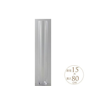 フラワーグラス EURO 直径15×高さ80cm クリアー フラワーベース 大きな 北欧 ヨーロッパ シンプル 花器 透明 大きい 大型 【送料無料】