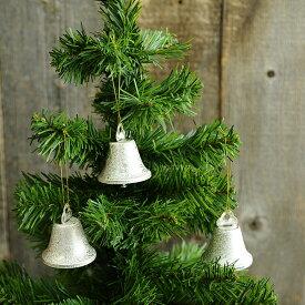 やさしい反射 クリスマスツリーのベル (6個入り) 5cm クリスマス 飾り ツリー 鈴 金 銀 装飾 ディスプレイ 吊るす ぶら下げ Xmas シルバー ゴールド オブジェ