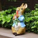 ピーターラビット にんじん大好き 絵本 雑貨 置物 うさぎ グッズ 映画 人気 ラビット ウサギ キャラクター オブジェ …