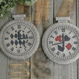 【アリス雑貨クーポン】 アリスの時計 ステップストーン アンティーク 不思議の国のアリス 置物 雑貨 敷石 かわいい オブジェ キャラクター