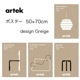 artek アルテック アイコン ポスター 50×70cm greige 北欧 フィンランド おしゃれ モダン beehive paimio stool60