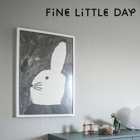Fine Little Day ファインリトルデイ ポスター RABBIT WITH SMALL HAT 50×70cm ラビット ウィズ スモール ハット 北欧 スウェーデン おしゃれ かわいい