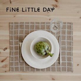 Fine Little Day ファインリトルデイ ランチョンマット RUTIG 47×37cm チェック 北欧 スウェーデン 麻 天然素材 プレースマット おしゃれ かっこいい
