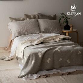 KLIPPAN クリッパン コットン シングルブランケット CHOUCHO グレー W140×L180cm mina perhonen ミナペルホネン シュニールコットン オーガニック 天然素材 北欧 おしゃれ 送料無料 寝具 ソファ
